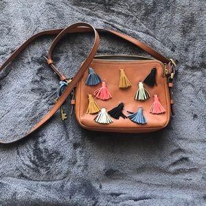 Fossil Crossbody Tassel Bag